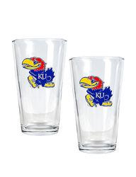 Kansas Jayhawks pc. Pint Glass Set 2