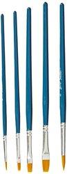 Sax True Flow Golden Taklon Brush - Assorted Sizes - Set of 108 - Blue