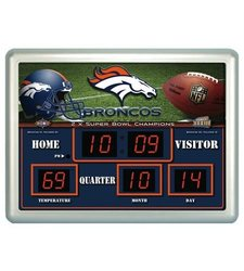 Team Sports America NFL Scoreboard Wall Clock