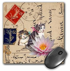 3dRose Vintage Cats on a Postcard Mouse Pad (Mp_108243_1)