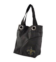 NFL New Orleans Saints Sport Noir Sheen Tote Purse, Black
