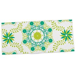 "KESS InHouse Anneline Sophia ""Let's Dance Green"" Teal Floral Office Desk Mat, Blotter, Pad, Mousepad, 13 x 26-Inches"