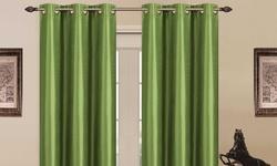 "J&V Textiles 76""x84"" Blackout Grommet Panel Pair - Madonna ?Green"