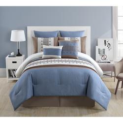 VCNY Geneva 8-Piece Comforter Set - Multi - Size: King