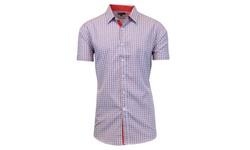 Harvic Men's Slim-Fit Plaid Button-Down Shirt - Pattern 23 - Multi - Sz: M