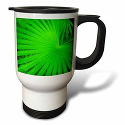 3dRose tm_17929_1 Real Green Travel Mug, 14-Ounce, Stainless Steel