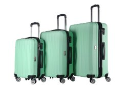 Brio #1600 3-Piece Hardside Spinner Luggage Set - Light Green