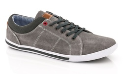 Franco Vanucci Men's Lace-Up Sneakers - Grey - Size: 11