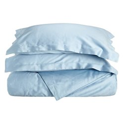 Impressions 300TC Cotton Solid Duvet Cover Set - Teal - Size: Full/Queen