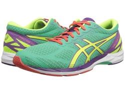 ASICS Women's Gel-DS Racer 10 Athletic Shoes - Mint/Yellow/Purple - Size:6
