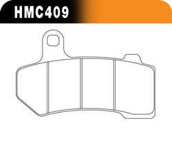Hawk Performance Organic Motorcycle Brake Pad Set (HMC409)