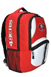 NFL San Francisco 49ers Captain Backpack, 18.5-Inch, Red