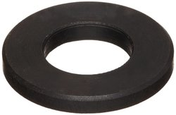 "1/4"" Hole Size 4140 Black Oxide Finish Steel Flat Washer - Pack of 5"
