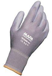 """MAPA Polyurethane Palm Coated Glove - Grey - Size: 9.25"""" - Pack of 12"""