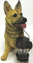 Tricod German Shepherd Dog with Lantern Solar Light (B5195)