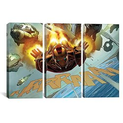 iCanvasART 3-Piece Avengers-Iron Man Flying Posters - Size: 60 by 40""