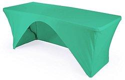 "LA Linen Open Back Spandex Tablecloth, Mint, 48"" x 24"" x 30"""
