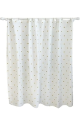 "Pillowfort Metallic Dot Shower Curtain - White - Size: 72""x72"""