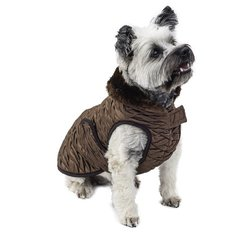 Scooter's Friends Waterproof Dog Coat - Golden Brown - Size: 14