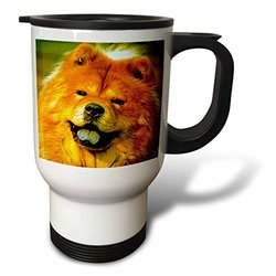 3dRose 14-Ounce Chow Chow Stainless Steel Travel Mug