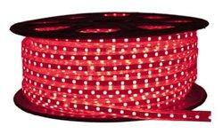 CBconcept 120VSMD5050-5M-R 120 -volt High Power SMD5050 Flexible Flat LED Strip Rope Light, 16-Feet Spool, Red
