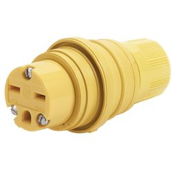 Woodhead 15-Amp 250V 3-Wire 2-Pole Blade Connector for Male Receptacle
