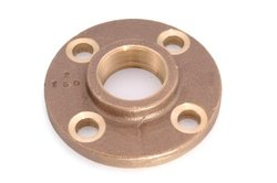 """Anderson Metals 2"""" x 6"""" Threaded Companion Flange Brass Pipe Fitting"""