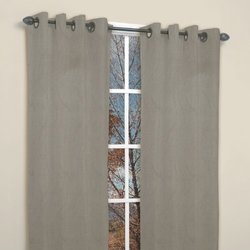Famous Home Fashions Tempo Grey 2-Piece Window Panels