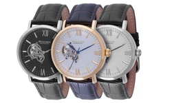 Rudiger Men's Stuttgart Watch - Blue Band White Dial