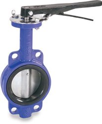 """Smith-Cooper 5"""" Stainless Steel 316 Disc Wafer Style Iron Butterfly valve"""