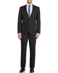 Kenneth Cole Men's 2 Button Slim Fit Suit - Charcoal - Size: 46L