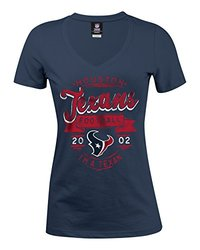 Majestic NFL Houston Texans Women's Jersey Tee - Navy - Size: Small