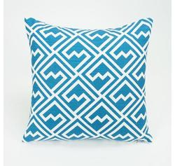 "Zippy Pillow Cover - Aquarius Blue - Size: 17""x17"""
