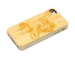 CARVED Clear Cherry Wood Case for iPhone 4/4S - Wild West (CC1K-E-WLDWST)