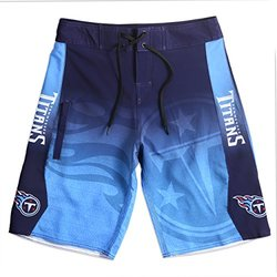 KLEW NFL Tennessee Titans Gradient Board Shorts, Small, Blue