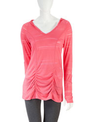 H2 Hannah Performance Women's  Burnout Hoodie - Bright Pink - Size: Small