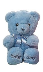 Aurora Plush Baby Comfy Baby Boy Bear - Blue - Size: 10""