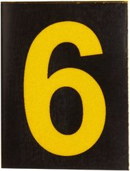 Brady 5890-6, 58906 Bradylite Reflective Numbers and Letters (Pack of 12 pcs)