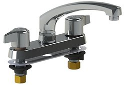 """Union Brass 360C 6"""" Ledge Type Kitchen Faucet with Cast Body/Compression Style Valves & 8"""" Cast Spout"""