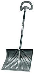 "Truper Poly Combo Snow Shovel with Galvanized Metal Wear Strip & 18"" Blade"