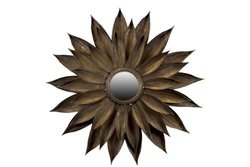 Urban Trends 60605 Decorative Metal Wall Decoration with Mirror