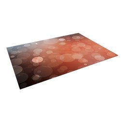 "Kess InHouse Kess Original ""Sunset"" Orange Bokeh Outdoor Floor Mat/Rug, 5 by 7-Feet"