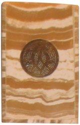 Kenz Alabaster Light Square Candle Votive Holder - Size: Large