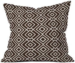 """Deny Designs Howell Theory Wallpaper Throw Pillow - Brown - Size: 18""""x18"""""""