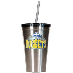 NBA Denver Nuggets 16-Ounce Stainless Steel Insulated Tumbler with Straw