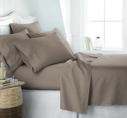 Microfiber Bed Sheets Set: Full/Taupe 980693