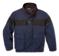 Workrite FR Flame Resistant 6 oz Nomex IIIA Bomber Jacket, Elastic Cuff, X-Large, Regular Length, Royal Blue