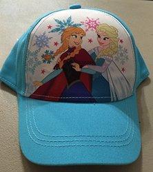 Disney Girls Frozen Anna Elsa Baseball Cap - Aqua