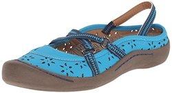 Muk Luks Erin Women's Slip-on Sandals - Teal - Size: 10