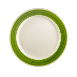 "CAC  Rainbow Plate 12"" - Green - 12/Case"